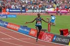 Mo Farah wins the 3000 metres,  2013 IAAF Diamond League, Sainsbury's Anniversary Games, Queen Elizabeth Olympic Park, London.