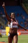 Marilyn Okoro winning the 800 metres at the Sainsbury's British Championships, Birmingham.