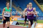 Niall Flannery (Newham) on his way to victory in 400 metres hurdles, 2014 Sainsbury's British Championships. Photo: David T. Hewitson/Sports for All Pics