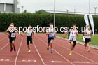Under-17 mens 200 metres, Northern Under-15 and under-17 Championships, Wigan. Photo: David T. Hewitson/Sports for All Pics
