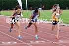 Under-17 womens 100 metres, Northern Under-15 and under-17 Championships, Wigan. Photo: David T. Hewitson/Sports for All Pics