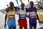 From left to right:Stanley Biwott 2nd, Mo Farah winner and Mike Kigen 3rd in the mens Morrisons Great North Run. Photo: David T. Hewitson/Sports for All Pics