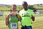 Gerda Steyn (Nedbank RC, South Africa) and Abraham Tewalde (Saltwell Harriers) womens and mens winners of the Tynedale Jelly Tea 10 Mile, Hexham. Photo: David T. Hewitson/Sports for All Pics